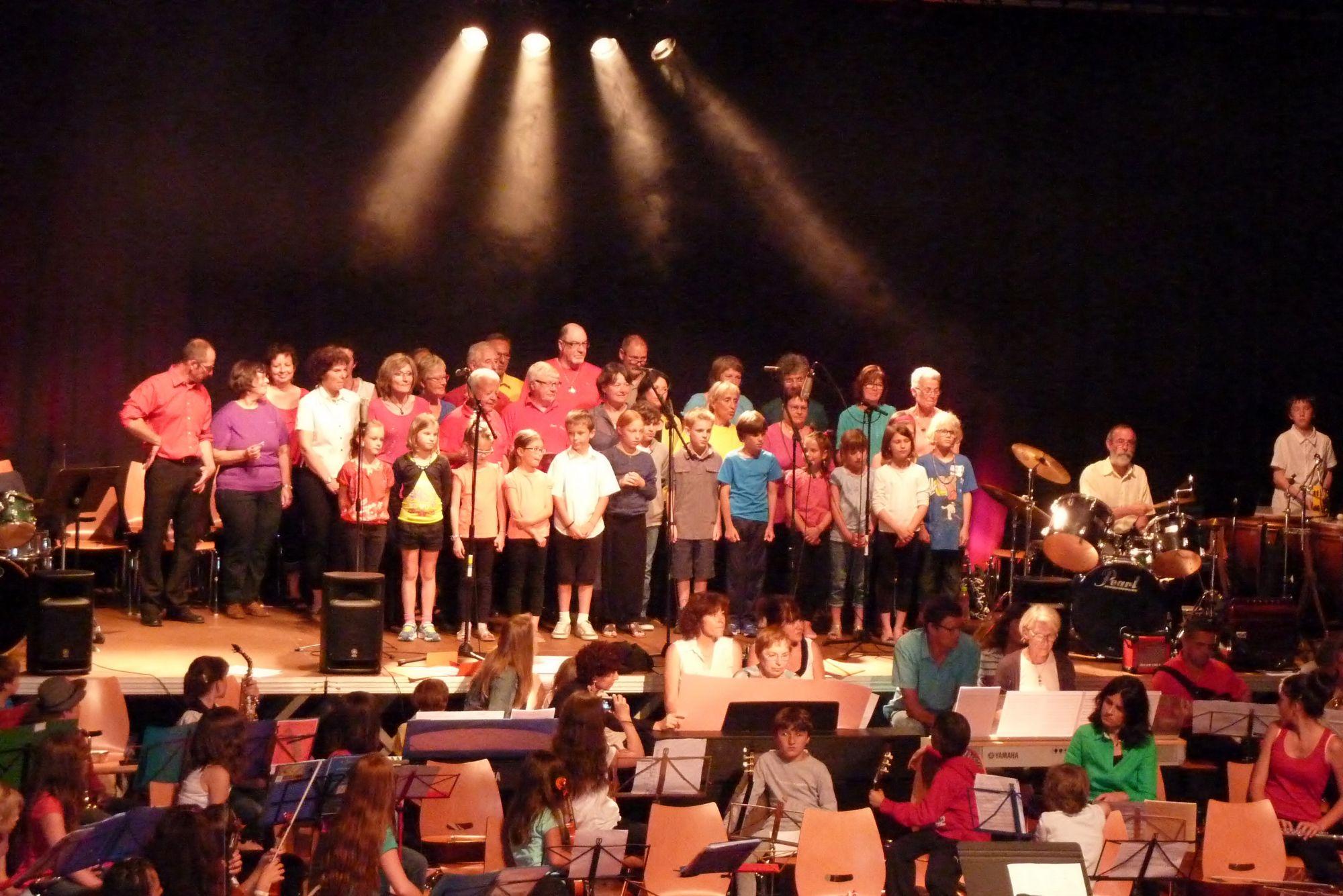Concertà Allemont avec l'école de musique - 21 juin 2013