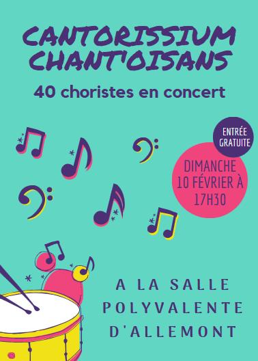 Concert du 10 février 2019 à Allemont - Affiche