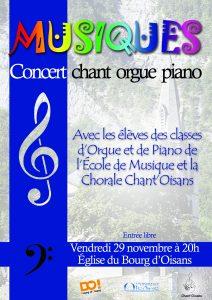 Concert chant, piano et orgue à l'église de Bourg d'Oisans